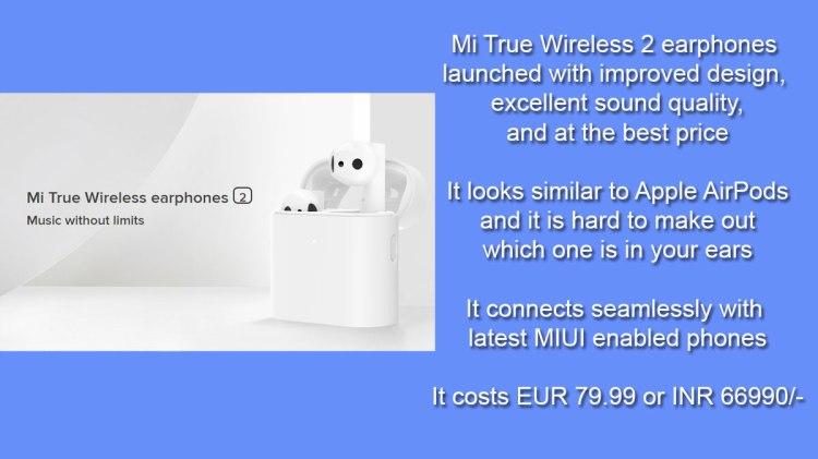 Mi True Wireless 2 Earphones